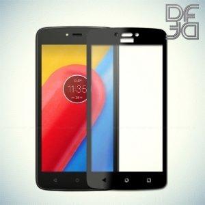DF Закаленное защитное стекло на весь экран для Motorola Moto C - Черный