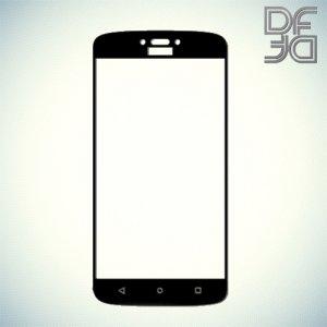 DF Закаленное защитное стекло на весь экран для Motorola Moto C Plus - Черный