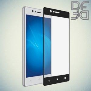 DF Закаленное защитное стекло на весь экран для Nokia 3 - Черный