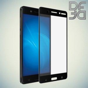 DF Закаленное защитное стекло на весь экран для Nokia 6 - Черный