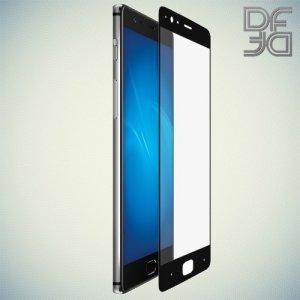 DF Закаленное защитное стекло на весь экран для OnePlus 3 - Черный