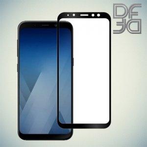 DF Закаленное защитное стекло на весь экран для Samsung Galaxy A8 2018 - Черный