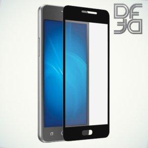 DF Закаленное защитное стекло на весь экран для Samsung Galaxy J2 Prime  - Черный