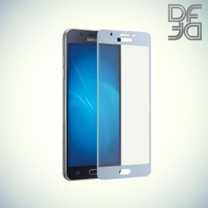 DF Закаленное защитное стекло на весь экран для Samsung Galaxy J3 2017 SM-J330F - Синий
