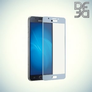 DF Закаленное защитное стекло на весь экран для Samsung Galaxy J7 2017 SM-J730F - Синий