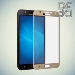 DF Закаленное защитное стекло на весь экран для Samsung Galaxy J7 Neo - Золотой