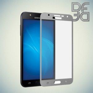 DF Закаленное защитное стекло на весь экран для Samsung Galaxy J7 Neo - Серебряный