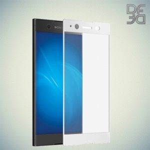 DF Закаленное защитное стекло на весь экран для Sony Xperia XA1 Plus - Белый