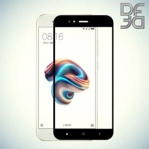 DF Закаленное защитное стекло на весь экран для Xiaomi Mi 5x / Mi A1 - Черный