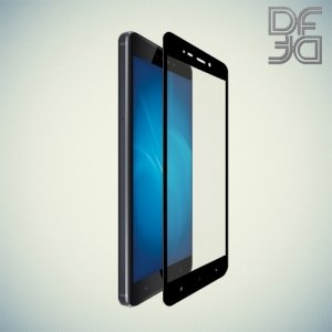 DF Закаленное защитное стекло на весь экран для Xiaomi Redmi 4 - Черный