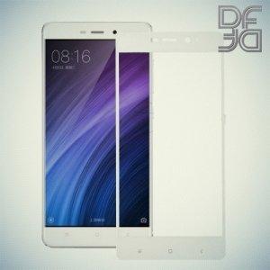DF Закаленное защитное стекло на весь экран для Xiaomi Redmi 4 Pro / Prime - Белый