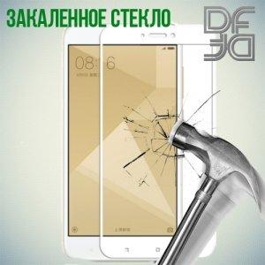 DF Закаленное защитное стекло на весь экран для Xiaomi Redmi 4X - Белый