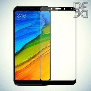 DF Закаленное защитное стекло на весь экран для Xiaomi Redmi 5 Plus - Черный