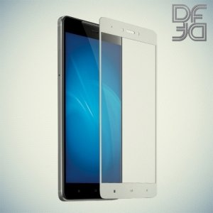 DF Закаленное защитное стекло на весь экран для Xiaomi Redmi Note 4X - Белый