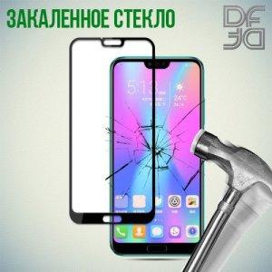 DF Защитное стекло для Huawei Honor 10 черное