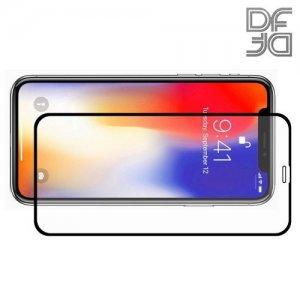 DF Защитное стекло для iPhone XR / iPhone 11 черное