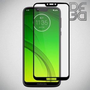 DF Защитное стекло для Motorola Moto G7 Power черное