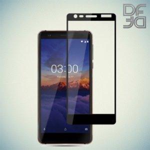 DF Защитное стекло для Nokia 3.1 2018 черное