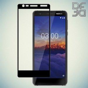 DF Защитное стекло для Nokia 5.1 2018 черное