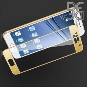 DF Защитное стекло для Samsung Galaxy A3 2017 золотое