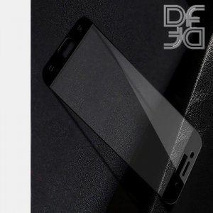 DF Защитное стекло для Samsung Galaxy A7 2017 черное