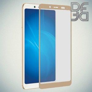 DF Защитное стекло для Xiaomi Redmi Note 5 золотое