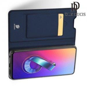 Dux Ducis чехол книжка для Asus Zenfone 6 ZS630KL с магнитом и отделением для карты - Синий