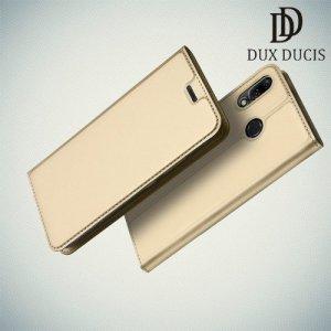 Dux Ducis чехол книжка для Asus Zenfone Max M2 ZB633KL с магнитом и отделением для карты - Золотой