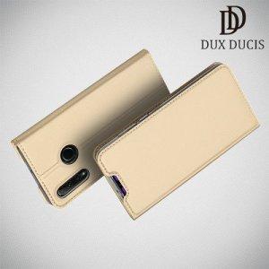 Dux Ducis чехол книжка для Huawei Honor 20 Lite с магнитом и отделением для карты - Золотой