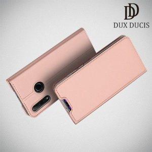Dux Ducis чехол книжка для Huawei Honor 20 Lite с магнитом и отделением для карты - Розовое Золото