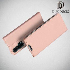 Dux Ducis чехол книжка для Huawei Honor 20 Pro с магнитом и отделением для карты - Розовое Золото