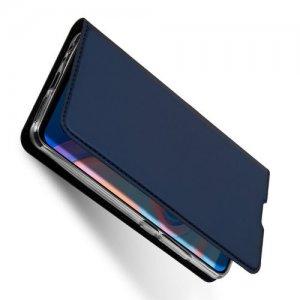 Dux Ducis чехол книжка для Huawei Nova 5T с магнитом и отделением для карты - Синий