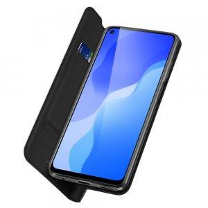 Dux Ducis чехол книжка для Huawei Honor 30S с магнитом и отделением для карты - Черный