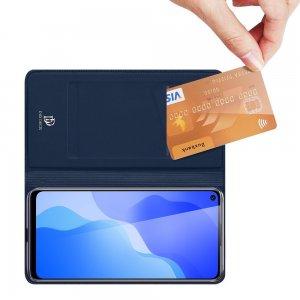 Dux Ducis чехол книжка для Huawei Honor 30S с магнитом и отделением для карты - Синий