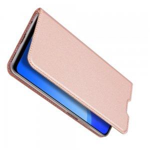 Dux Ducis чехол книжка для Huawei Honor 30S с магнитом и отделением для карты - Золотой