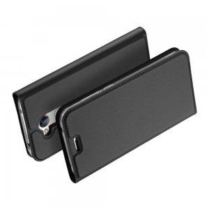 Dux Ducis чехол книжка для Huawei Honor 6A с магнитом и отделением для карты - Серый