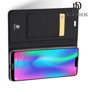 Dux Ducis чехол книжка для Huawei Honor 8C с магнитом и отделением для карты - Черный