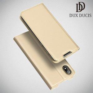 Dux Ducis чехол книжка для Huawei Honor 8S / Y5 2019 с магнитом и отделением для карты - Золотой