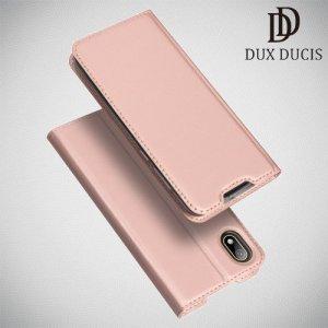 Dux Ducis чехол книжка для Huawei Honor 8S / Y5 2019 с магнитом и отделением для карты - Розовое Золото