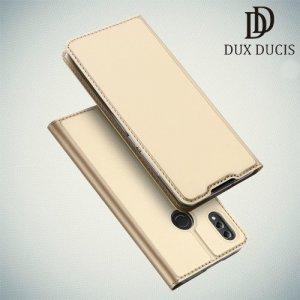 Dux Ducis чехол книжка для Huawei Honor 8X с магнитом и отделением для карты - Золотой