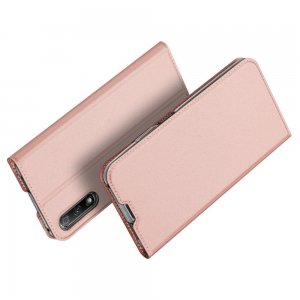 Dux Ducis чехол книжка для Huawei Honor 9X / 9X Premium с магнитом и отделением для карты - Светло-Розовый