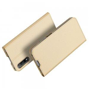 Dux Ducis чехол книжка для Huawei Honor 9X / 9X Premium с магнитом и отделением для карты - Золотой