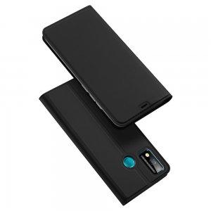 Dux Ducis чехол книжка для Huawei Honor 9X Lite с магнитом и отделением для карты - Черный