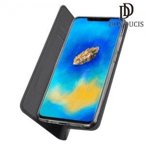 Dux Ducis чехол книжка для Huawei Mate 20 Pro с магнитом и отделением для карты - Черный