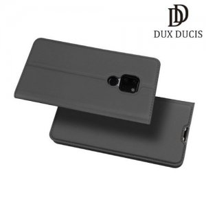 Dux Ducis чехол книжка для Huawei Mate 20 с магнитом и отделением для карты - Серый