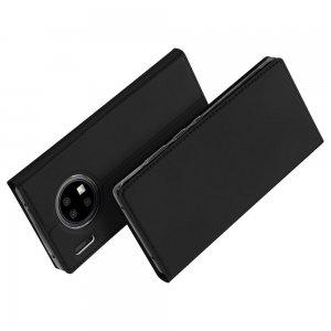 Dux Ducis чехол книжка для Huawei Mate 30 Pro с магнитом и отделением для карты - Черный