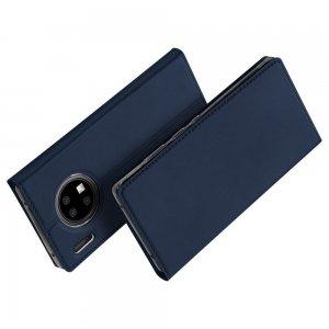 Dux Ducis чехол книжка для Huawei Mate 30 Pro с магнитом и отделением для карты - Синий