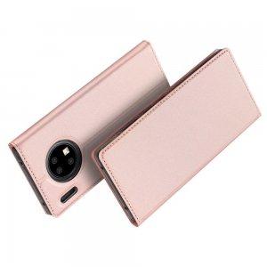 Dux Ducis чехол книжка для Huawei Mate 30 Pro с магнитом и отделением для карты - Светло-Розовый
