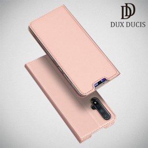 Dux Ducis чехол книжка для Huawei nova 5 с магнитом и отделением для карты - Розовое Золото