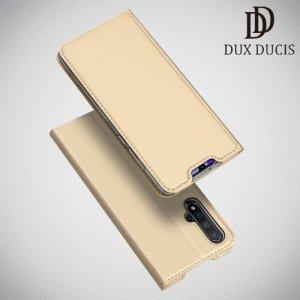 Dux Ducis чехол книжка для Huawei nova 5 с магнитом и отделением для карты - Золотой